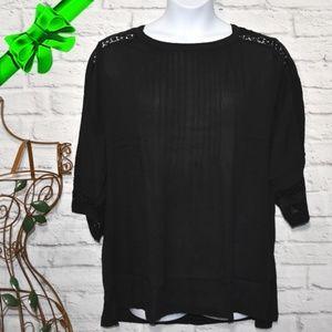Black Pleated Top Plus Size 20 24 #kd99l03q17t1p99